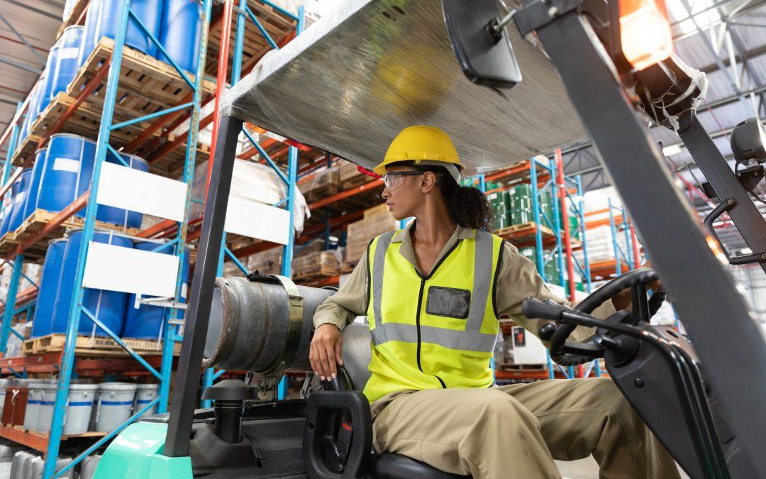 Female Forklift Truck Driver